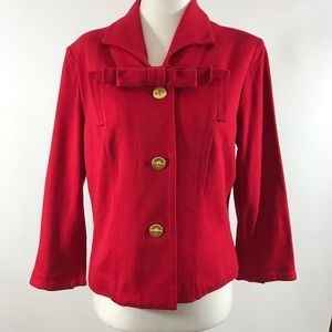 Cabo Red Gold Button Blazer Jacket sz 6